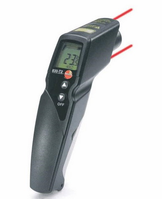 Laser point temperature measuring device